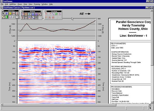 Screen Shot of Seisviewer